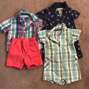 Boys romper and shorts set bundle